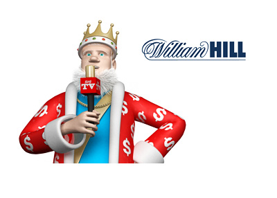 The King is standing up straight and giving a report on the failed William Hill takeover
