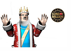 King presenting the Sunday Million by Pokerstars