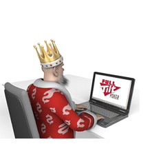 The King is surfing Full Tilt Poker website