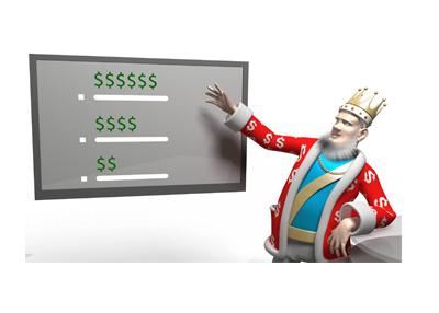 The King is presenting the poker earnings list for the current year