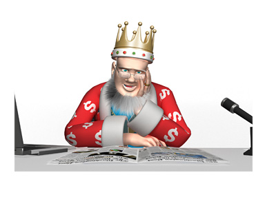 The King is reading the news about the recent situation that took place at the WPT Canadian Spring Championship