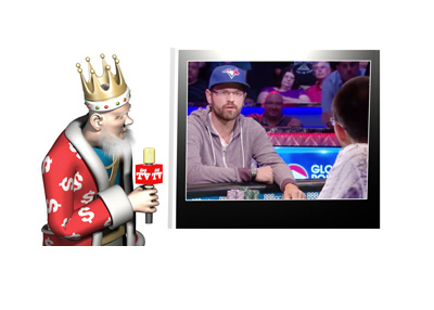 The King is watching Benger vs. Kassouf at the World Series of Poker 2016