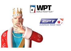 -- The King is updating on the latest news from the World Poker Tour and the European Poker Tour - WPT and EPT logos --