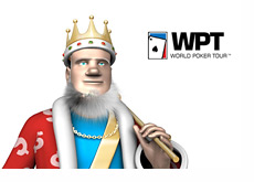 The King next to the WPT logo