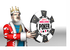 The King is holding the WSOP 2011 chip