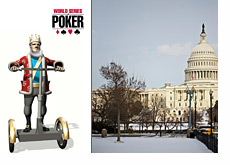 Mashup of King, WSOP logo and the Congress building