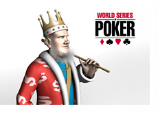 The King next to the WSOP logo - World Series of Poker