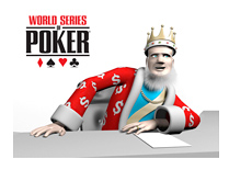The King is presenting the news from the World Series of Poker 2014