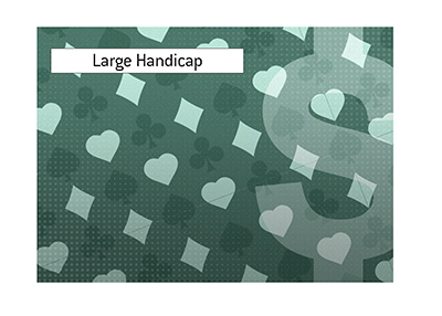Unusually large handicap is part of the upcoming high profile heads up poker challenge.
