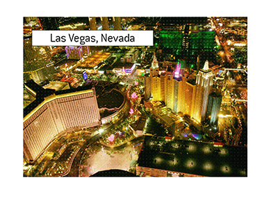 The shot of the Las Vegas strip taken from a helicopter at night.  The WSOP is fast approaching.  Are you ready?
