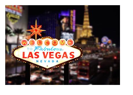 Las Vegas Sign - Mini Size - Boulevard Night Shot
