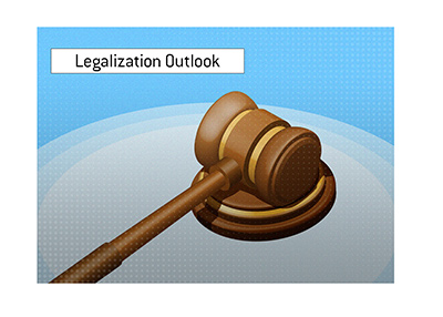 The legalization outlook for online poker in the United States.