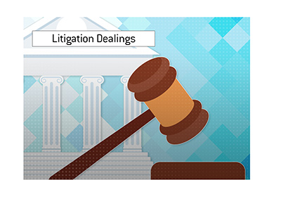 The poker giant is having to deal with litigation still.