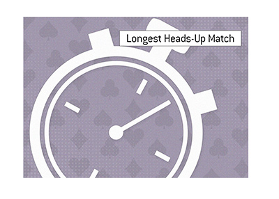 The longest heads-up match on record is...