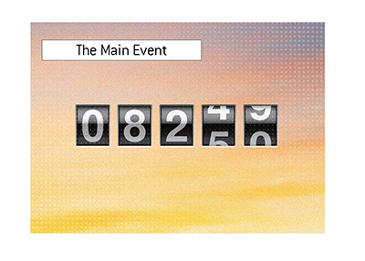 The World Series Main Event player counter has reached 9,250. Illustration.