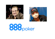 Mike Matusow, Daniel Negreanu and 888 Poker - Collage