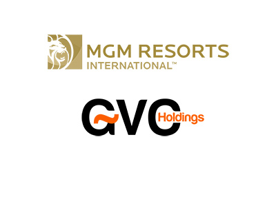 MGM Resorts and GVC Holdings company logos - Year is 2018 - Joint venture in the making.