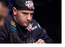World Series of Poker 2010 - Michael Mizrachi with a Full Tilt hat