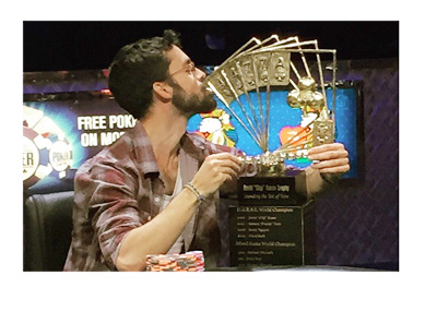 Mike Gorodinsky - Winner of WSOP Poker Players Championship 2015 - Las Vegas - Photo by Josh Cahlik - Instagram Account