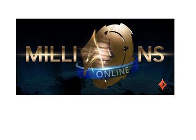 PartyPoker - Millions Online - Event logo - Black on white.