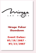 mirage poker showdown 2007