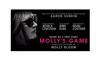 Movie poster - Mollys Game - December 2017 release.  Wide version.
