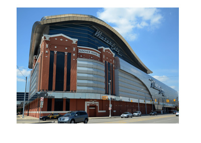 Motor City Casino - Detroit - Daylight photo taken from the outside.