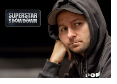 Negreanu with a hoodie over his hat - Lost in thought