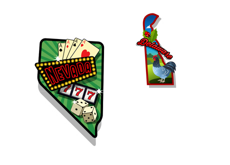 States of Nevada and Delaware - Illustrations - Online Poker Compact