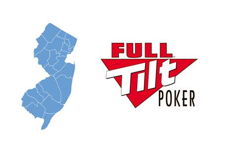 New Jersey Map Outline and the Full Tilt Poker Logo