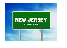 New Jersey Straight Ahead - Sign