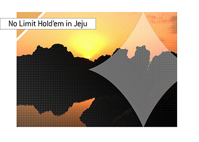 South Korean island of Jeju has been a home for some of the big no limit holdem games in recent times.  Jeju sunset in photo.