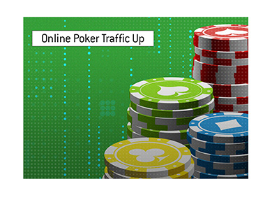 The numbers for online poker are up during social distancing. - Illustration.