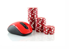 Computer Mouse and Casino Chips - Online Gambling