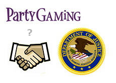 department of justice and party gaming close to a deal? - partygaming