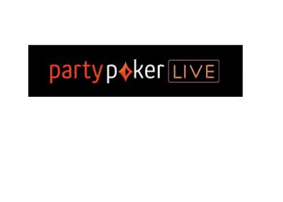 Partypoker Live - Logo - Black background.