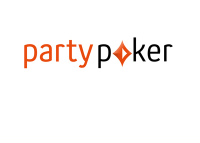 The 2017 version of the famous PartyPoker logo on white background.
