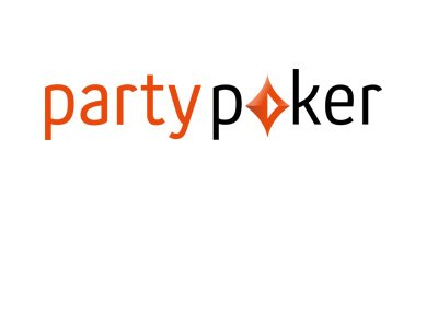 The 2017 version of the PartyPoker logo.  On white background.
