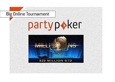 The biggest online pokoer tournament yet - partypoker Millions Online - $20M.