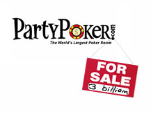 is party poker for sale? 3 billion dollars?