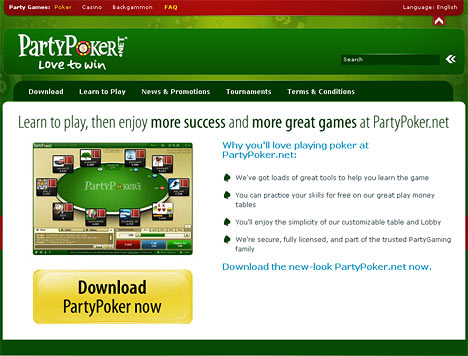 partypoker.net screenshot