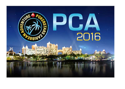Pokerstars Caribbean Adventure - PCA 2016 - Logo on top of Vegas lights image
