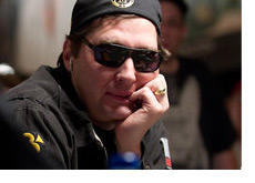 Phil Hellmuth at the World Series of Poker - Wearing a hat