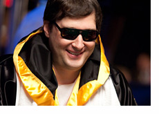 Phil Hellmuth in the UB MMA Gear at the WSOP 2010