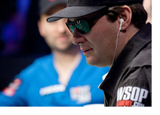 Phil Hellmuth wearing dark sunglasses