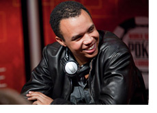 Phil Ivey at the WSOPE 2010 - Wearing a black leather jacket