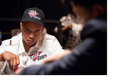 -Phil Ivey with a serious look