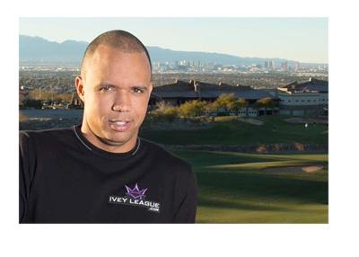 Phil Ivey posing in front of a Las Vegas skyline - World Series of Poker - WSOP - 2015