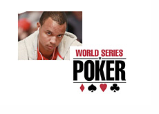Phil Ivey and the WSOP logo