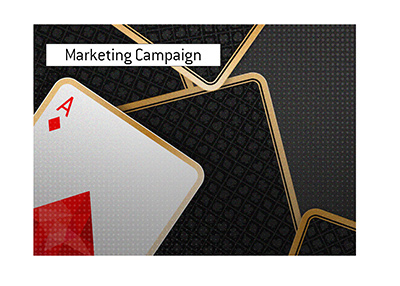 A marketing campaign for a new poker site is in full swing.